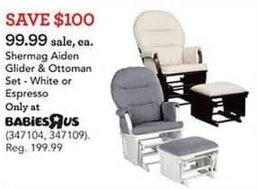 Toys R Us Black Friday: Shermag Aiden Gilder & Ottoman Set for $99.99