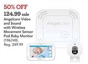 Toys R Us Black Friday: Angelcare Video & Sound w/Wireless Movement Sensor Pad Baby Monitor for $124.99