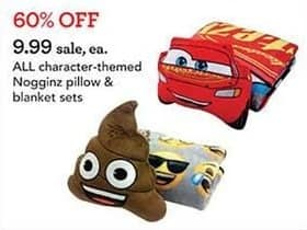 Toys R Us Black Friday: All Character-Themed Nogginz Pillow & Blanket Sets for $9.99