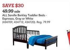 Toys R Us Black Friday: All Sorelle Berkley Toddler Beds for $49.99
