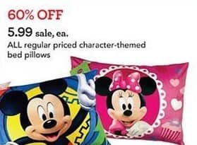 Toys R Us Black Friday: All Regular-Priced Character-Themed Bed Pillows for $5.99