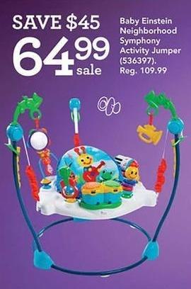 Toys R Us Black Friday: Baby Einstein Neighborhood Symphony Activity Jumper for $64.99