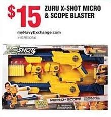 Navy Exchange Black Friday: Zuru X-Shot Micro & Scope Blaster for $15.00