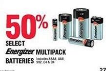 Navy Exchange Black Friday: Energizer Multipack Batteries, Select - 50% Off