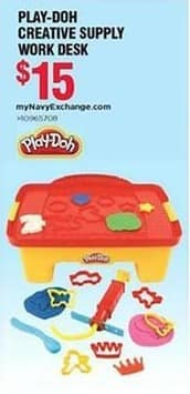 Navy Exchange Black Friday: Play-Doh Creative Supply Work Desk for $15.00