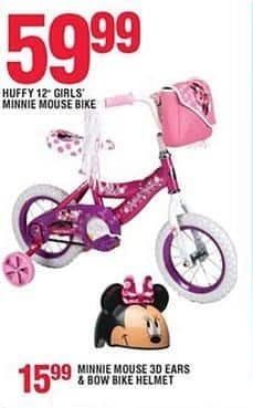 """Navy Exchange Black Friday: Huffy 12"""" Girls Minnie Mouse Bike for $59.99"""