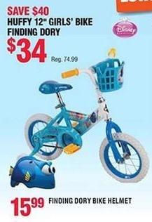 """Navy Exchange Black Friday: Huffy 12"""" Girls' Bike Finding Dory for $34.00"""
