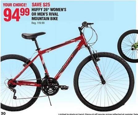"""Navy Exchange Black Friday: Huffy 26"""" Women's or Men's Rival Mountain Bike for $94.99"""