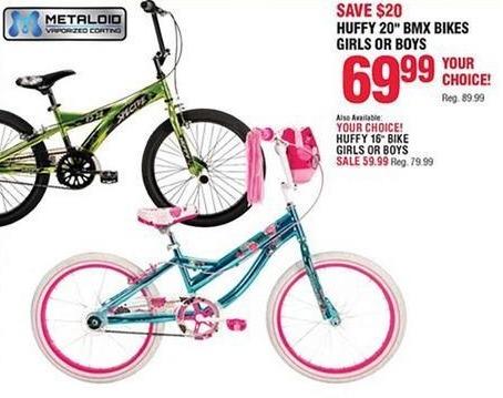 "Navy Exchange Black Friday: Huffy 20"" Girls or Boys BMX Bikes for $69.99"