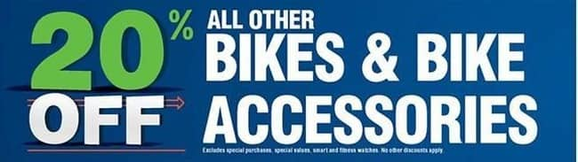 Navy Exchange Black Friday: Bikes & Bike Accessories, Select - 20% Off