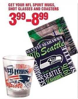 Navy Exchange Black Friday: NFL Spirit Mugs, Shot Glasses, and Coasters for $3.99 - $8.99