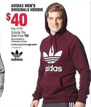 Navy Exchange Black Friday: Adidas Men's Original Hoodie for $40.00