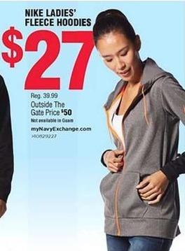 Navy Exchange Black Friday: Nike Ladies' Fleece Hoodies for $27.00