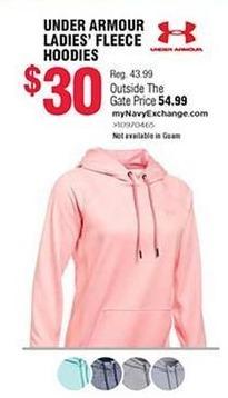 Navy Exchange Black Friday: Under Armour Ladies' Fleece Hoodies for $30.00