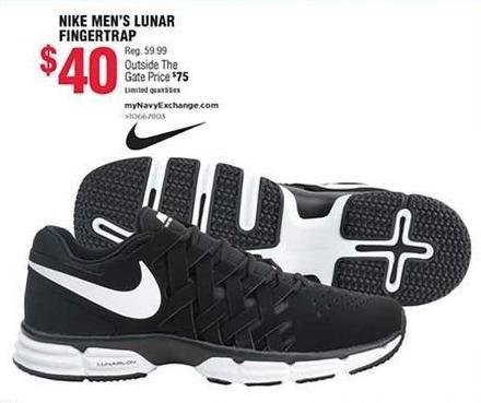 Navy Exchange Black Friday: Nike Men's Lunar Fingertrap for $40.00