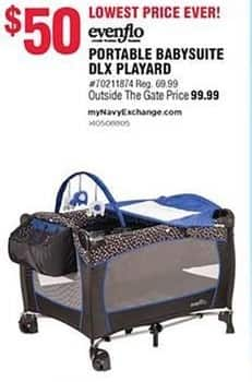 Navy Exchange Black Friday: Evenflo Portable Babysuite DLX Playard for $50.00
