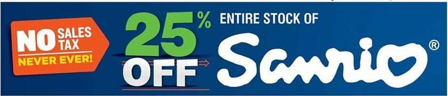 Navy Exchange Black Friday: Entire Stock of Sanrio - 25% off