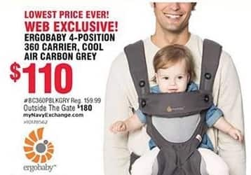 Navy Exchange Black Friday: Ergobaby 4-Position 360 Carrier for $110.00
