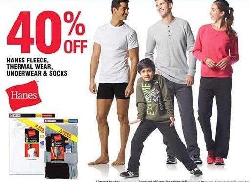 Navy Exchange Black Friday: Hanes Fleece Thermal Wear, Underwear & Socks - 40% Off
