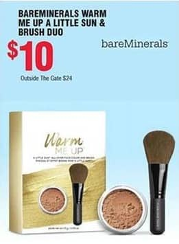 Navy Exchange Black Friday: Bareminerals Warm Me Up A Little Sun & Brush Duo for $10.00