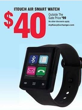 Navy Exchange Black Friday: Itouch Air Smart Watch for $40.00