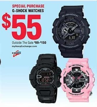Navy Exchange Black Friday: G-Shock Watches for $55.00
