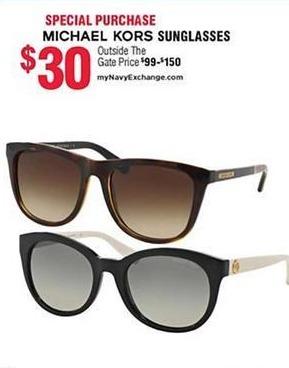 Navy Exchange Black Friday: Michael Kors Sunglasses for $30.00