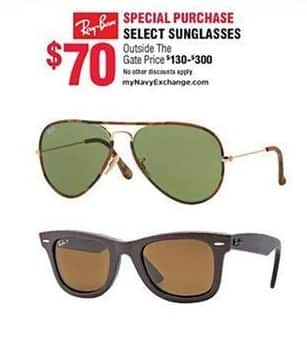Navy Exchange Black Friday: Ray-Ban Sunglasses, Select Styles for $70.00