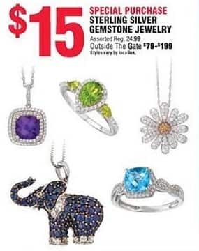 Navy Exchange Black Friday: Sterling Silver Gemstone Jewelry for $15.00