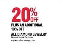 Navy Exchange Black Friday: All Diamond Jewelry - 20% Off + Extra 10% Off
