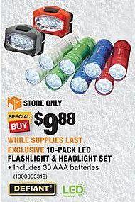 Home Depot Black Friday: Defiant 8-Pack Color-Changing LED Puck Lights for $14.88