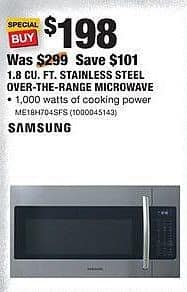 Home Depot Black Friday Samsung 18 Cu Ft Stainless Steel Over