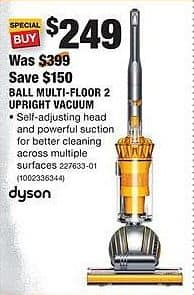 home depot black friday dyson ball multifloor 2 upright vacuum for