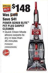 home depot black friday hoover power scrub elite pet plus carpet cleaner for. Black Bedroom Furniture Sets. Home Design Ideas