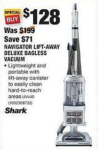 Home Depot Black Friday: Shark Navigator Lift-Away Deluxe Bagless Vacuum for $128.00