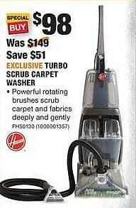 Home Depot Black Friday: Hoover Turbo Scrub Carpet Washer for $98.00