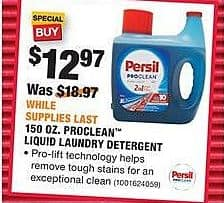 Home Depot Black Friday: 150 oz Persil Proclean Liquid Laundry Detergent for $12.97
