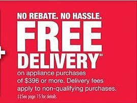 Home Depot Black Friday: Delivery w/ Appliance Purchases of $396 or More for Free