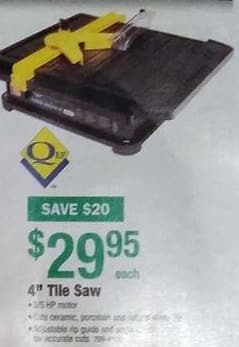 Menards Black Friday: QEP 4' Tile Saw for $29.95
