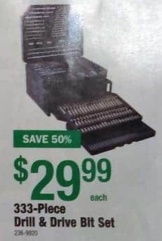 Menards Black Friday: 333-Piece Drill & Drive Bit Set for $29.99