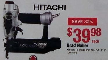 Menards Black Friday: Hitachi Brad Nailer for $39.98