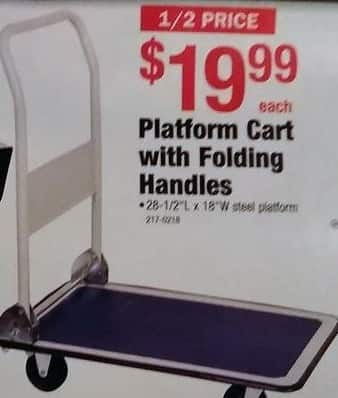 Menards Black Friday: Platform Cart with Folding Handles for $19.99