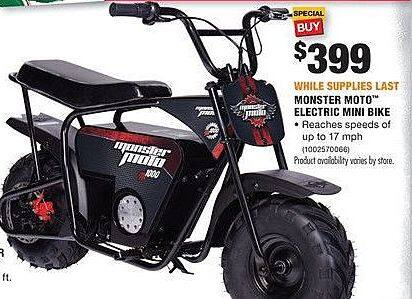 Home Depot Black Friday: Monster Moto Electric Mini Bike for