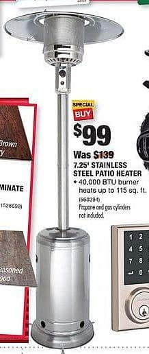 home depot black friday 725 stainless steel patio heater for 9900 - Home Depot Patio Heater