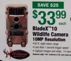 Menards Black Friday: Wildgame Innovations BladeX 10 Wildlife Camera 10MP Resolution for $33.99