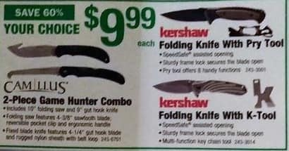 Menards Black Friday: Kershaw Knife with K-Tool for $9.99