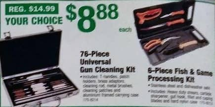 Menards Black Friday: 76-Piece Universal Gun Cleaning Kit for $8.88