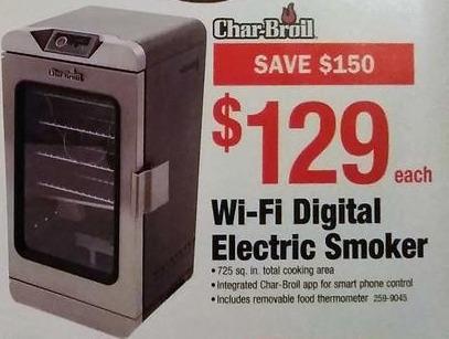 Menards Black Friday: Char-Broil Wi-Fi Digital Electric Smoker for $129.00