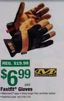 Menards Black Friday: Mechanix Wear Fastfit Gloves for $6.99