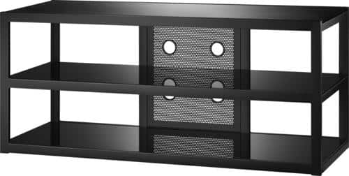 "Best Buy Weekly Ad: Insignia - Metal and Glass TV Stand - TVs Up to 65"" for $119.99"